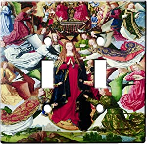 Master Of The Saint Lucy Legend Mary Queen Of Heaven - AC Outlet Decor Wall Plate Cover Metal