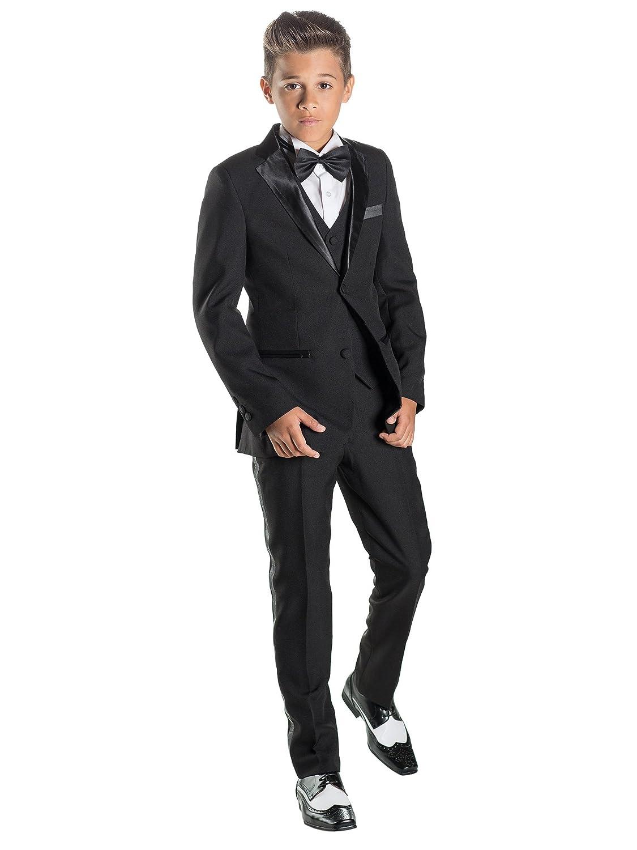 Paisley of London, Boys Tuxedo, Boys Black Suits, Slim Fit Suit, Prom Suit, 12-18m - 13 years: Amazon.co.uk: Clothing