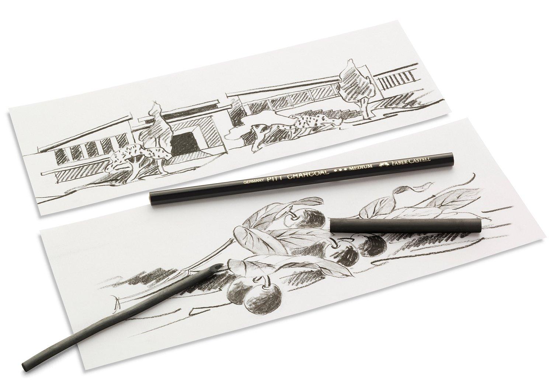 Medium FC129900 Faber-Castell Pitt Compressed Oil Free Charcoal Stick