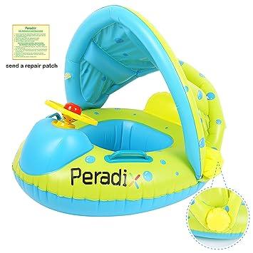 Peradix Barco Inflable Flotador Seguro Hinchable Juguetes de Desarrollo de Natación en Piscina y Mar para Niños (Azul y Verde): Amazon.es: Juguetes y juegos
