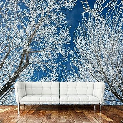 ZLJTYN 240cmX160cm Modern Natural Landscape Wallpaper Tree Snow Murals For The Living Room Bedroom
