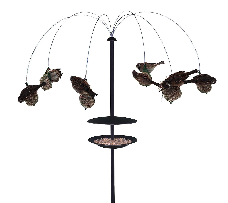 Life 5708127211327Vogelhaus für Vögel im Garten, schwarz, 40x 39x 12cm GARDEN LIFE 121132
