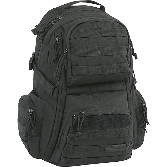 Amazon.com : Highland Tactical Crusher Heavy Duty Tactical Backpack (Black) : Sports & Outdoors