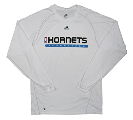 912d34334a16d New Orleans Hornets Team Issued Long Sleeve adidas ClimaLite ...