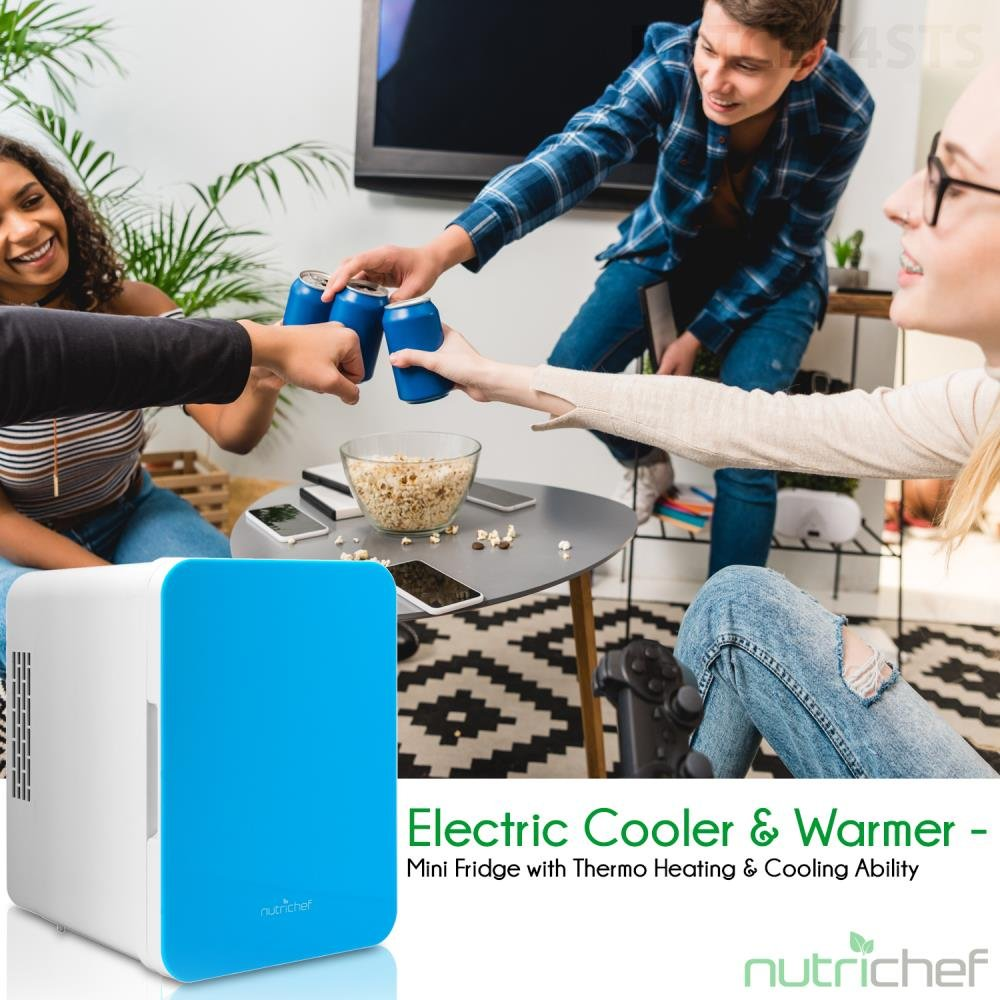 NutriChef Portable Mini Fridge - Personal Compact Electric Cooler and Warmer Box with 4 Liter / 6 can Storage, Includes 110V & 12V AC/DC Power for Home, Office, Car, RV & Boat by NutriChef (Image #8)