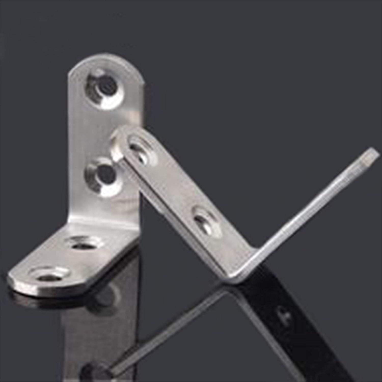para estante de madera 20 piezas silla Tiberham mesa Soporte de esquina de acero inoxidable armario /ángulo recto de 90 grados forma de L 40 x 40 mm conector de esquina para muebles