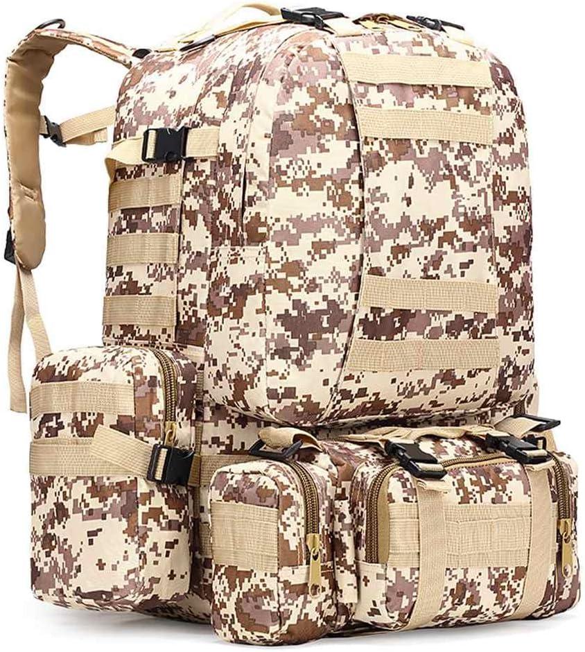 Escalade 55L Chasse Voyage Mcdobexy Sac /à Dos De Randonn/ée Molle Military Assault Sac Pour Randonn/ée Camping