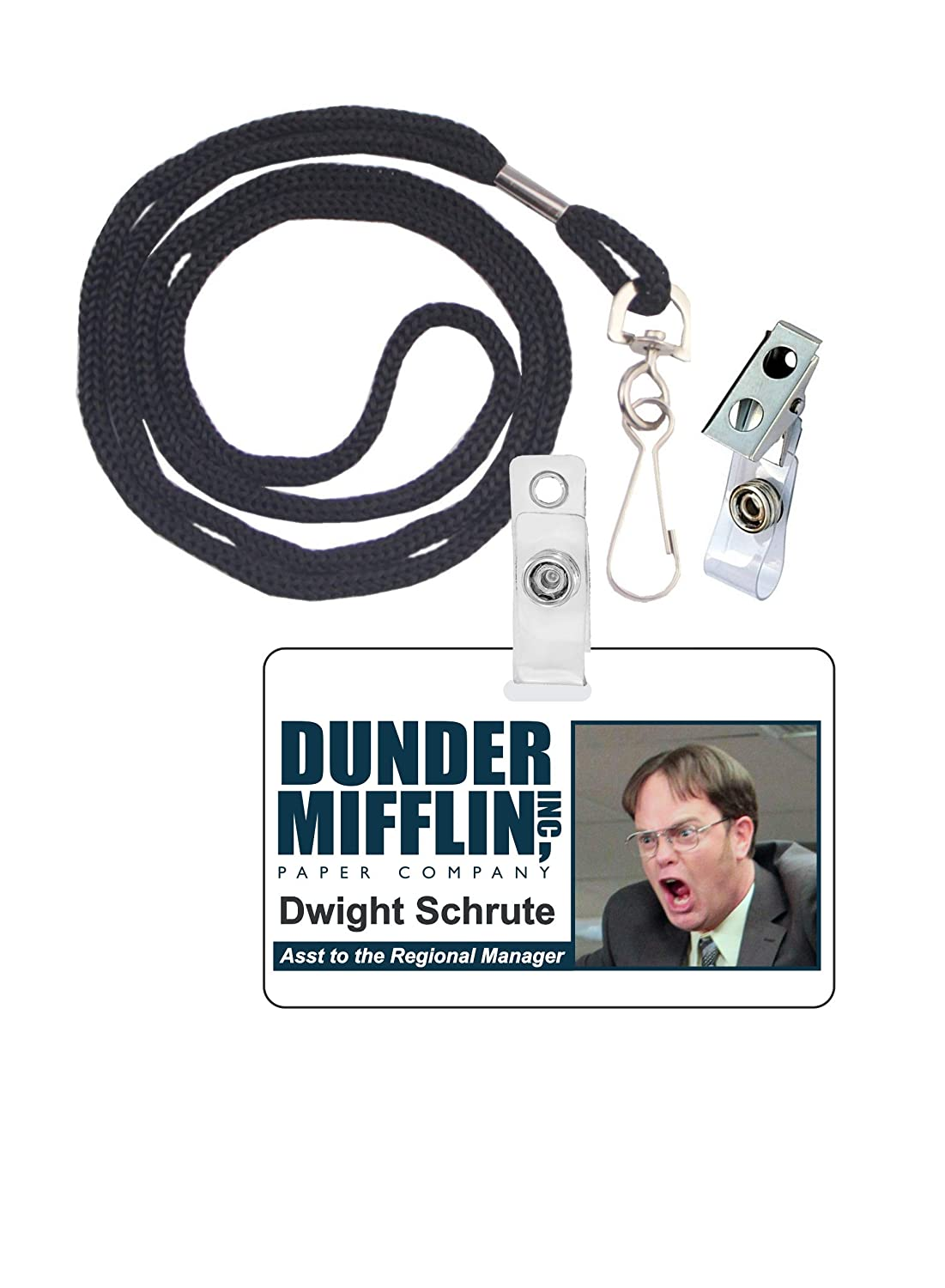 photo about Dwight Schrute Id Badge Printable identify Dwight Schrute The Office environment Novelty Identity Badge Motion picture Prop for Gown and Cosplay Halloween and Get together Extras