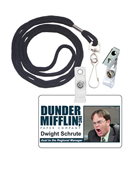 picture regarding Dwight Schrute Id Badge Printable referred to as Dwight Schrute The Business Novelty Identity Badge Motion picture Prop for Dress and Cosplay Halloween and Social gathering Equipment