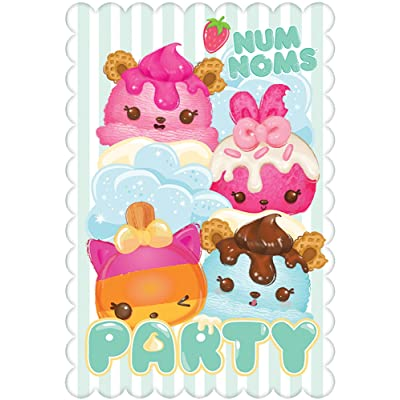amscan Postcard Invitations | Num Noms Collection | Party Accessory: Toys & Games