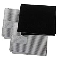SPARES2GO Universal Cooker Hood Grease & Odour Filter Kit for Kitchen Extractor Fan Vent - 3 Pack