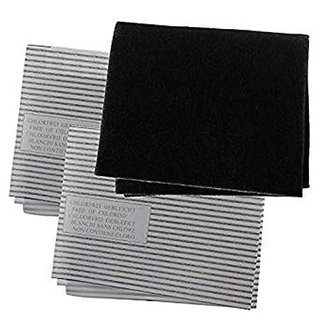 SPARES2GO Juego de filtro universal Campana extractora de carbono Grasa para Cocina Extractor Vent