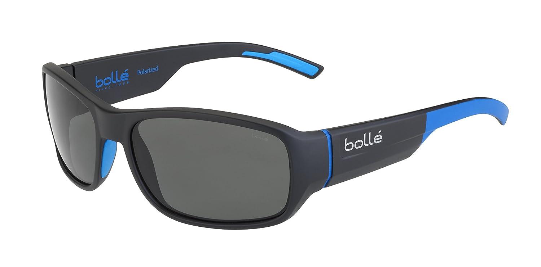 Bollé Heron Gafas, Unisex Adulto, Negro (Mate) / Azul (Pc Polarizado Tns Óleo), M: Amazon.es: Deportes y aire libre