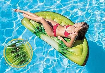 Intex Giant Inflatable 70 Inch Kiwi Slice Mat