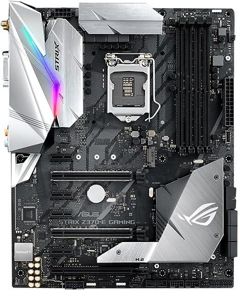 ASUS ROG Strix Z370-E Gaming - Placa Base para Gaming (7 x PCIe 3.0, 6 x SATA III, 6 x USB 3.0, HDMI, LGA1151, Intel HD Graphics, DDR4 4000 MHz): Amazon.es: Informática