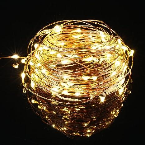 ICOCO Cadena de Luces LED Decorativas Navidad con Forma de Lágrima (10m)
