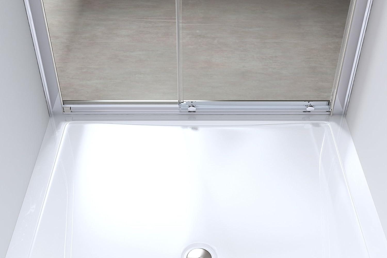 Porte de douche coulissante paroi de douche pare-douche verre de s/écurit/é vitrification Nano Teramo12 120X190