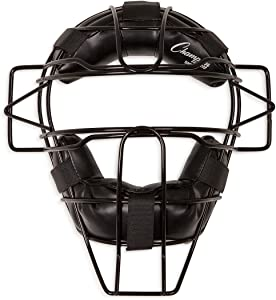 Champion Sports Adult Extended Throat Guard Baseball Mask for Umpires and Catchers, Black
