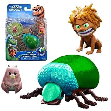 Arlo y Spot - Disney The Good Dinosaur - Carácter Figura Escarabajos gigantes & Spot