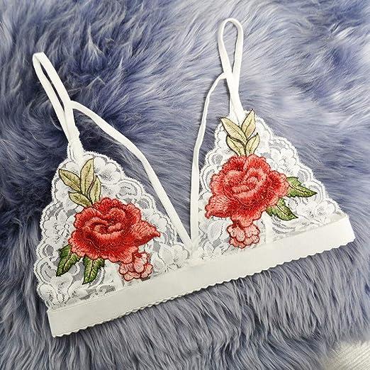 c9a42e2a2f598 Amazon.com   Gallity Women s Sexy Bralette Floral Embroidered Spaghetti  Strap Lingerie Tops (3XL