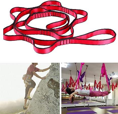Correa de escalada fuerte, correa para árbol de hamaca, columpios de árbol, hamaca de nailon, accesorios para yoga aéreo, hamaca de columpio ...