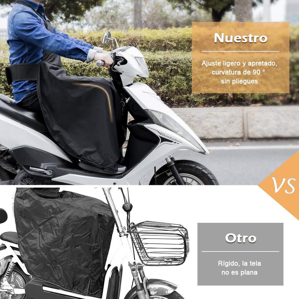 Color Negro LOETAD Cubre Piernas para Moto Universal Manta para Scooter Impermeable Oxford