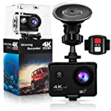 4K Action Camera,Wewdigi H9000 4K Sports Action Camera Ultra HD 30m Waterproof WiFi 16MP DV Camcorder 170 Degree Wide 2 inch LCD Screen/Remote Control/4k/HD 19 Mounting Kits