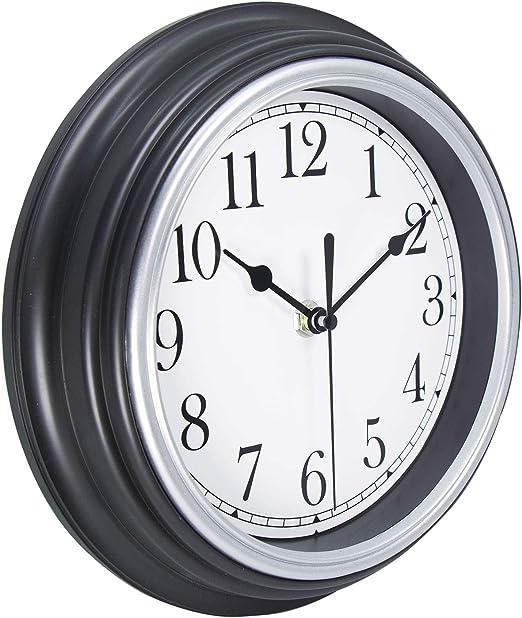 Vangold DIY Wall Clock Large 3D Frameless Wall Clocks for Living Room Decor Silver