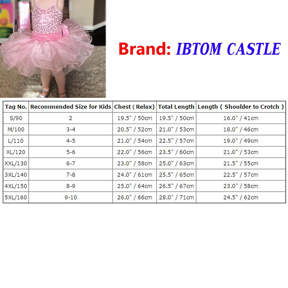 bba7b9e9e Girls Sequins Ballet Dress Dance Leotard Shiny Princess Costume ...