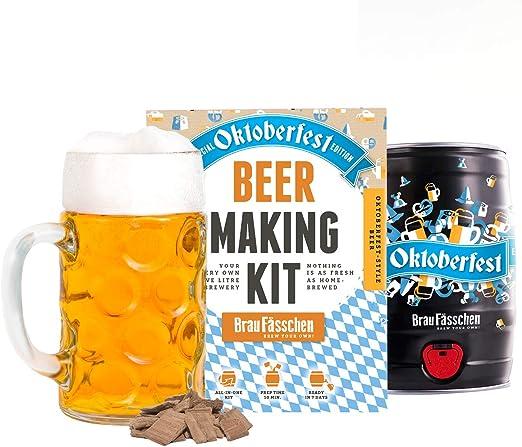 Brewbarrel/Braufässchen - Kit para hacer cerveza, edición especial Oktoberfest, prepara tu propia cerveza en 7 días, regalo de cumpleaños perfecto: Amazon.es: Hogar