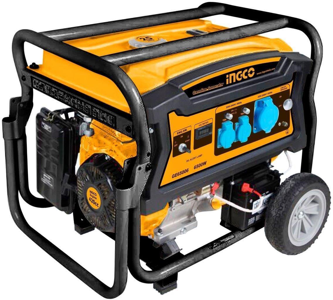 Generator Benzin ge650065000W, Marke Ingco