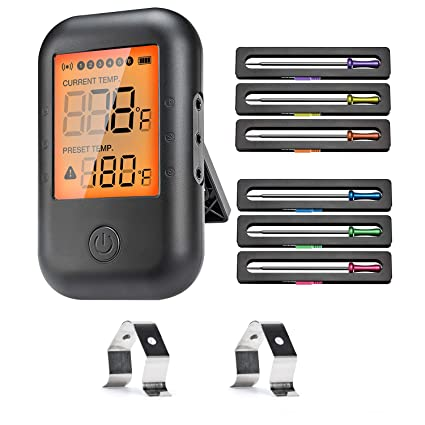 MUSCCCM Digital Grillthermometer Fleischthermometer BBQ Thermometer Bluetooth
