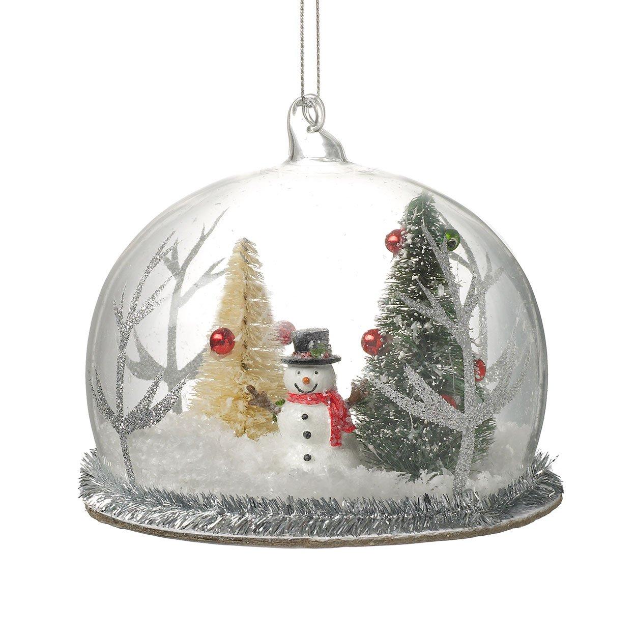 Sass /& Belle.Snowman Christmas Wooden Decoration.Bauble.Round.**