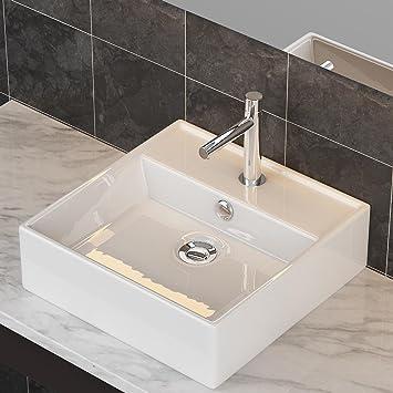 Waschbecken Fã¼R Badezimmer | Waschbecken24 Design Keramik Aufsatzwaschbecken Waschtisch