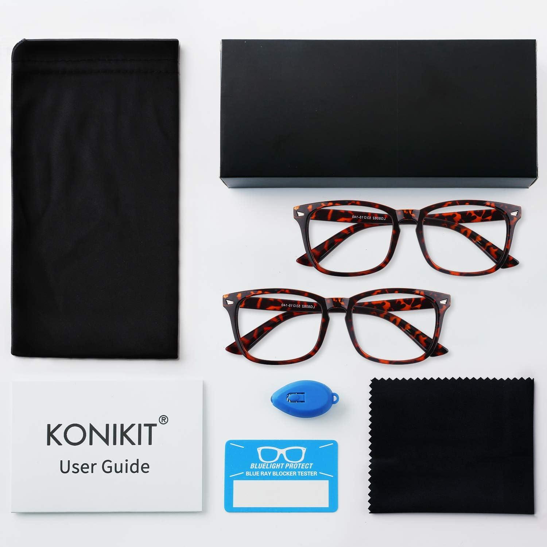 Blue Light Blocking Glasses Women Anti Eye Strain Minimize Headache Computer Reading Gaming Eyeglasses Frame 2 Pack