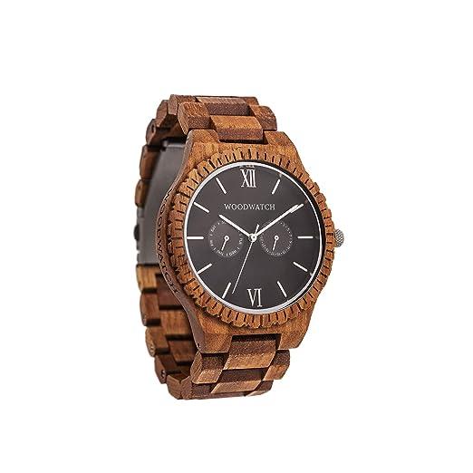 Madera Reloj Hombre | Midnight Black | Relojes de Madera Natural | la Wood Watch Relojes de Madera Oficial: Amazon.es: Relojes