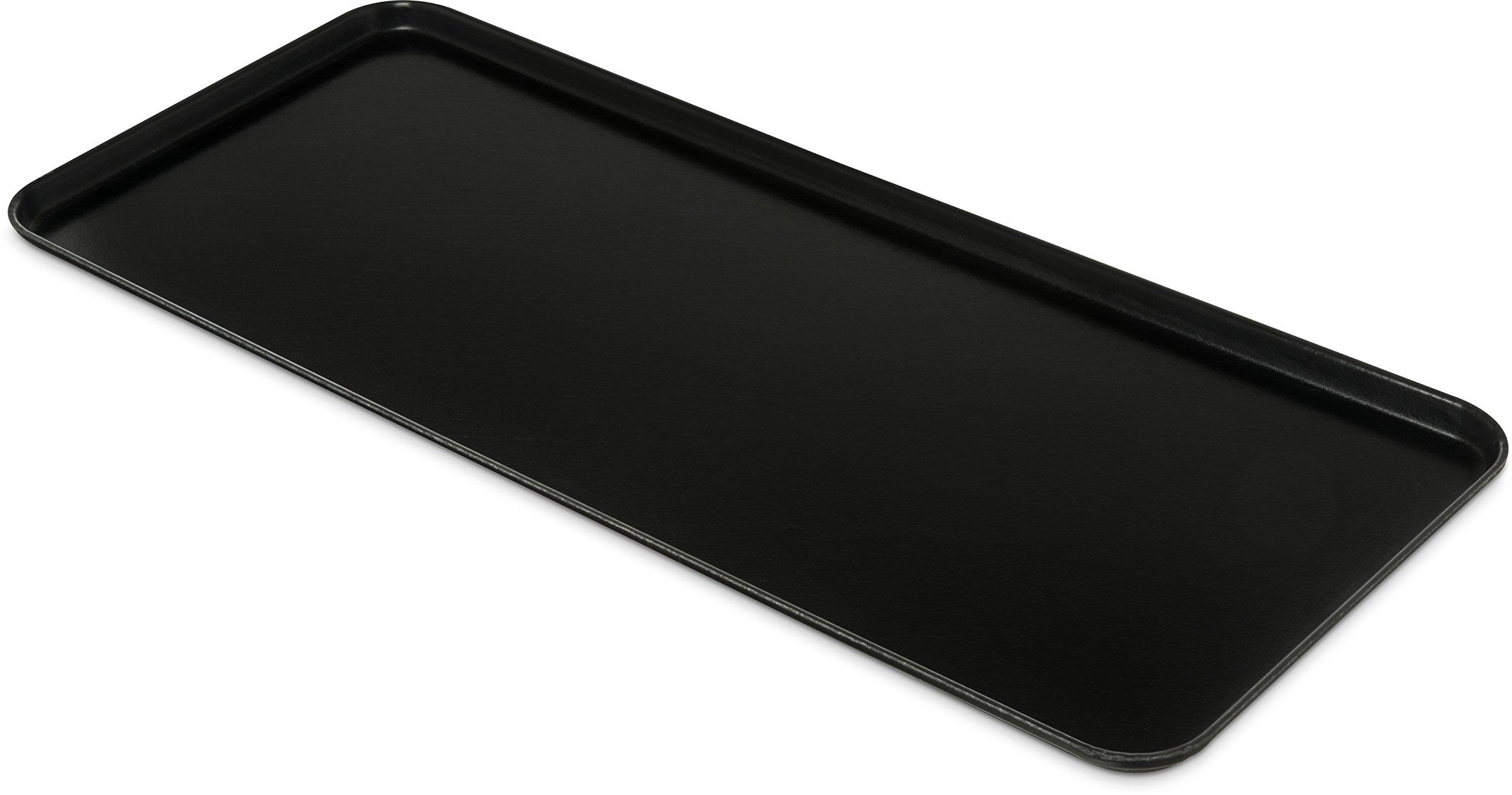 Carlisle 1230FMT309 Food Service Display Tray, 30'' x 12'', Black (Pack of 12)