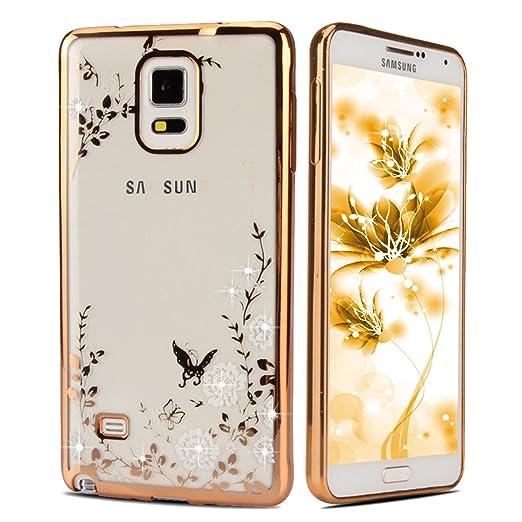 4 opinioni per Ukayfe Samsung Galaxy Note 4 Copertura, confine di placcatura Design Crystal