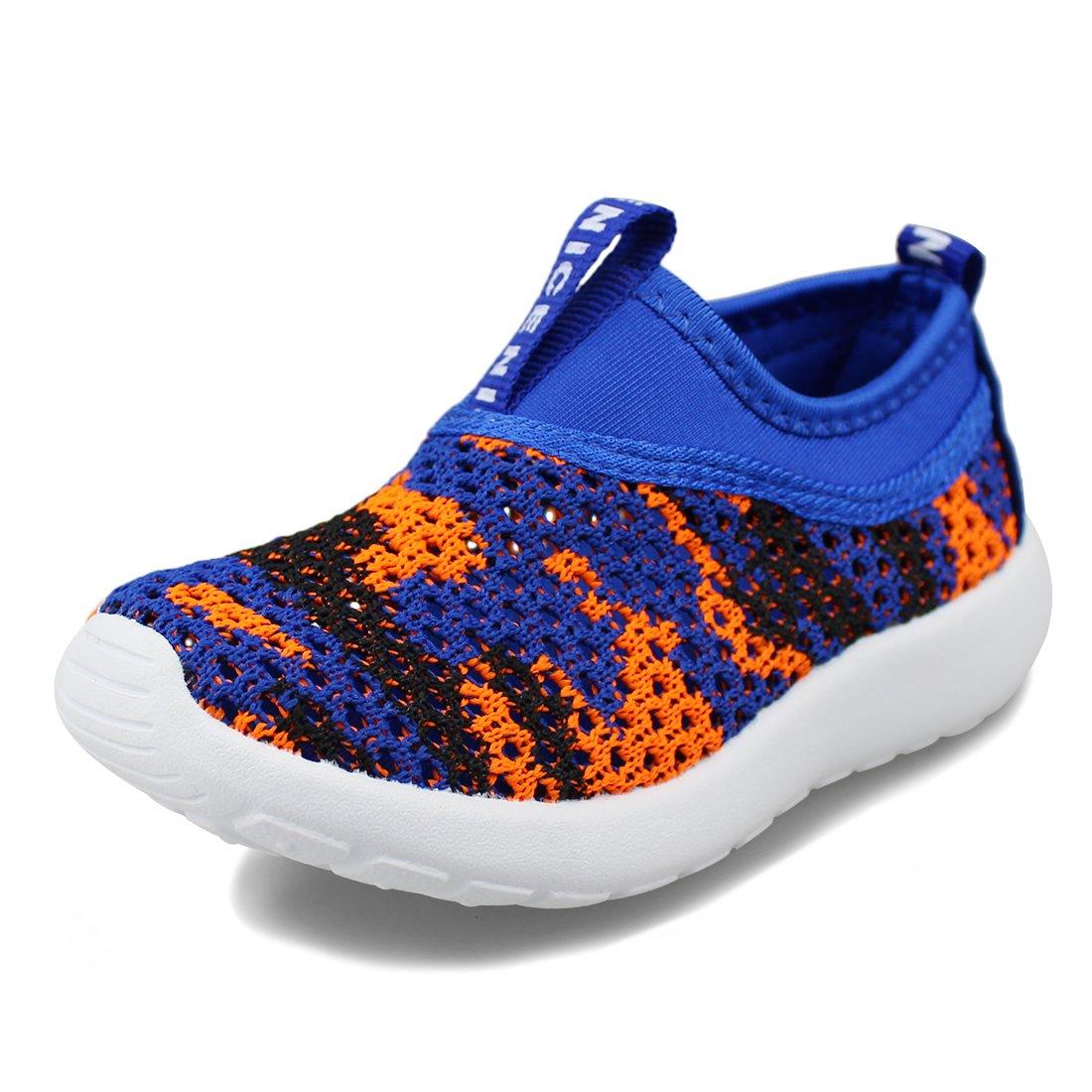 Hawkwell Kids Breathable Slip-on Sneaker(Toddler/Little Kid),Blue Fabric,11 M US