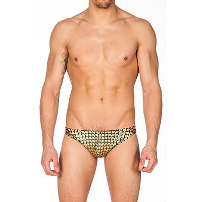 a75cbc93cd Men's Print Contour Pouch Greek Bikini Swimsuit by Gary Majdell Sport