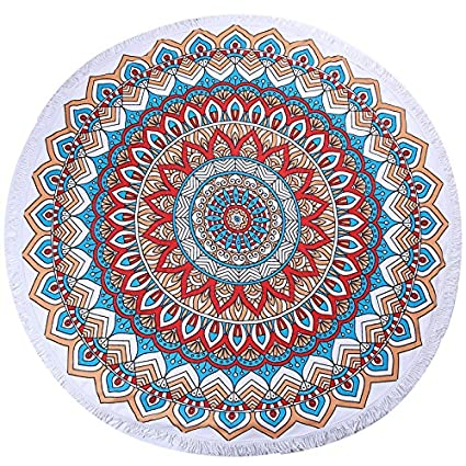 Amazon.com : Luxury Round Beach Towels Bohemian Circle Serviette De Plage Toalla Playa Swimming Bath Super-absorbent Toallas Category-E : Everything Else