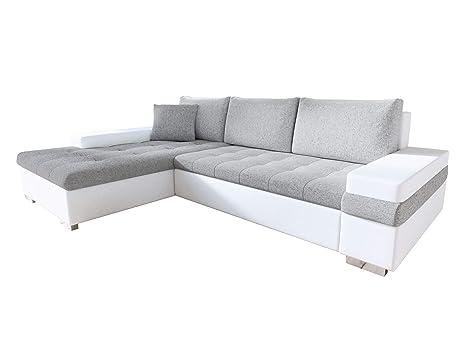 Mirjan24 Design Ecksofa Bangkok Mini, Moderne Eckcouch mit Schlaffunktion  und Bettkasten, Ecksofa für Wohnzimmer, Gästezimmer, Couch L-Form, ...