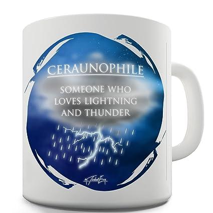 TWISTED ENVY Trenzado Envy ceraunophile definición taza de cerámica novedad