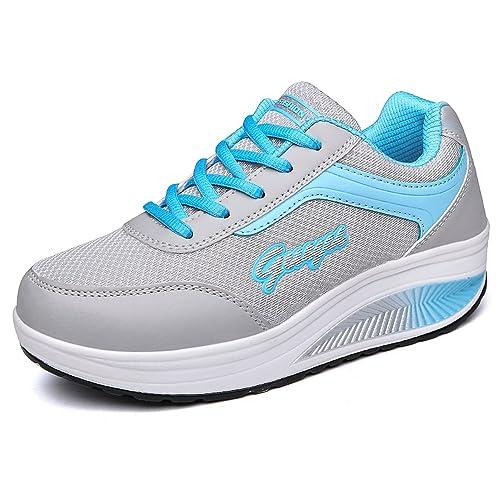 Hishoes Zapatos Casuales Zapatos con Ejecución Respirable Cómodo Ejercicio Zapatillas De Atletismo Mujeres: Amazon.es: Zapatos y complementos