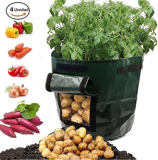 Bolsa para plantar, Verde oscuro 7 galones Durable Resistente al ...