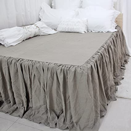 Amazoncom Queens House Linen Bedspreads Bed Skirt King Size