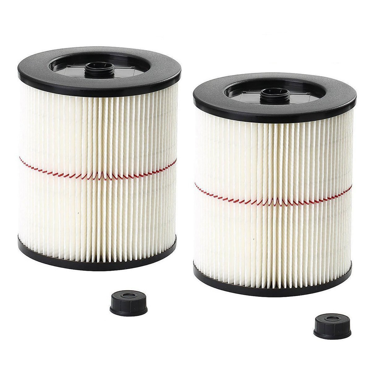VacFit Filter for Craftsman Shop Vac 17816 9-17816 Replacement for Craftsman Wet Dry Vac Cartridge Filter 5 and Larger Gallon Vacuum Cleaner Attachment 2 Pack