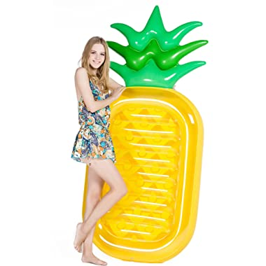Jasonwell Giant 76  Pineapple Pool Party Float Raft Summer Beach Swimming Pool Inflatable Floatie Lounge Pool Loungers Decorations Toys for Adults & Kids