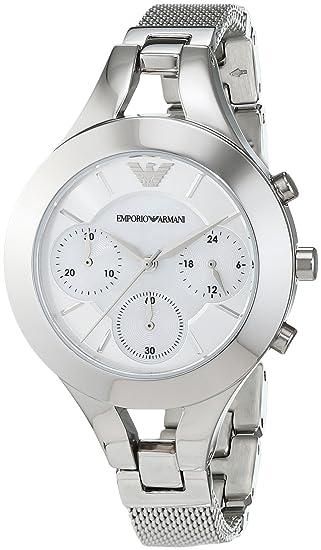 b773f61d Watch Emporio Armani AR7389 Chiara Cronograf Steel Woman: Amazon.ca ...