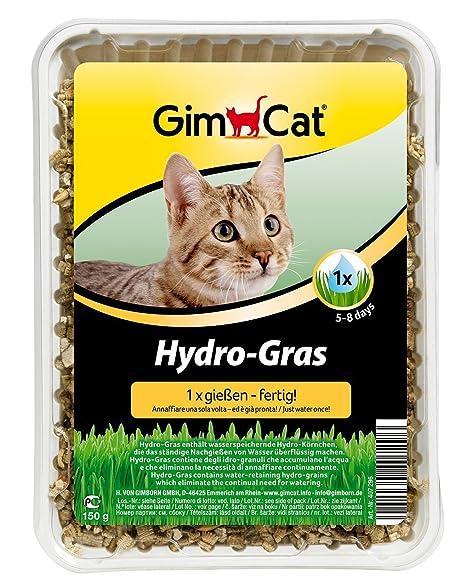 GimCat Hydro-Grass para gatos , Suplemento alimenticio para gatos , Antibolas de pelo ,
